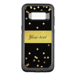 上品な金ゴールドの紙吹雪の黒 オッターボックスコミューターSamsung GALAXY S8 ケース