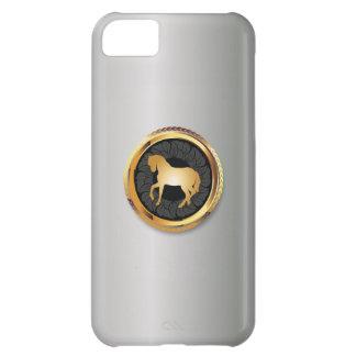 上品な金ゴールドの馬の真珠の白いiPhone 5の箱 iPhone5Cケース