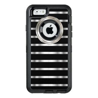 上品な銀および黒 オッターボックスディフェンダーiPhoneケース
