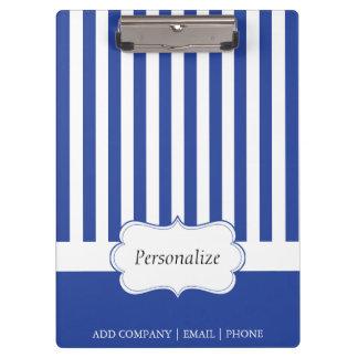 上品な電気青い縞| DIYの文字 クリップボード