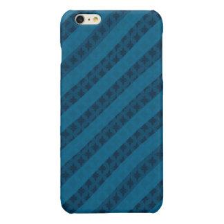 上品な青い縞-プラスカスタムなiPhone 6