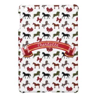 上品な馬および弓パターンカスタム iPad MINIケース