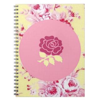 上品のばら色のノート ノートブック