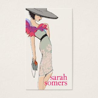 上品、ファッションのブロガー、スタイリッシュなファッションモデル スタンダード名刺