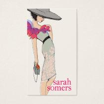 上品、ファッションのブロガー、スタイリッシュなファッションモデル 名刺