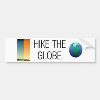 上地球をハイキングします バンパーステッカー