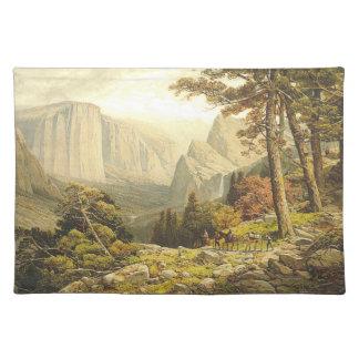 上山のハイキング ランチョンマット