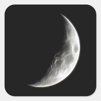 上弦の月の月の惑星の地球 スクエアシール