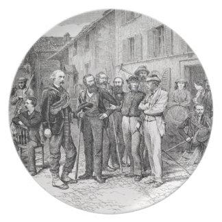 「上昇からの1864年にZermattのクラブ室、 プレート
