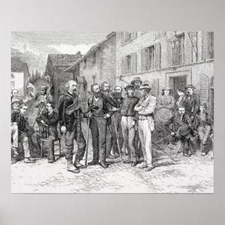 「上昇からの1864年にZermattのクラブ室、 ポスター