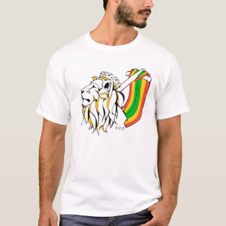 上昇しているラスタのレゲエのライオン Tシャツ
