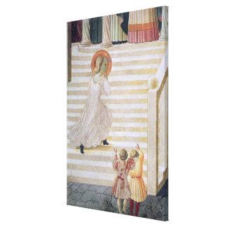 上昇している聖母マリア階段 キャンバスプリント
