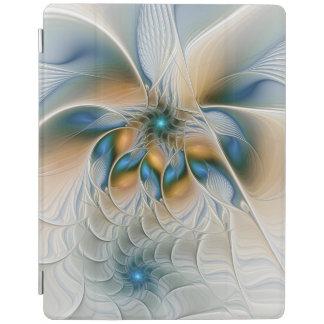 上昇して、青とのファンタジーのフラクタルの芸術を抽出して下さい iPadスマートカバー