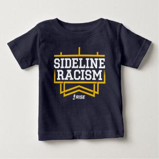 上昇のサイドラインの人種的優越感のTシャツのベビーの海軍か黄色 ベビーTシャツ