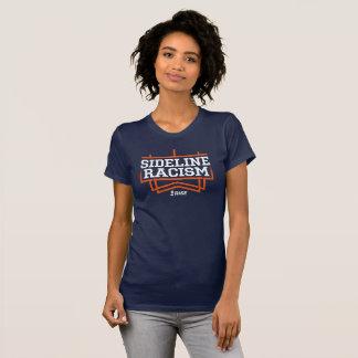 上昇のサイドラインの人種的優越感のTシャツの女性の海軍かオレンジ Tシャツ