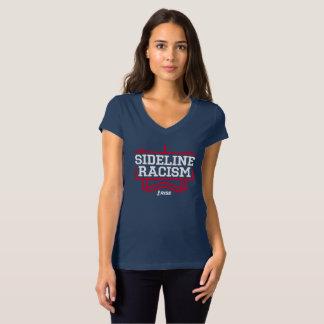 上昇のサイドラインの人種的優越感のTシャツの女性の海軍か赤 Tシャツ
