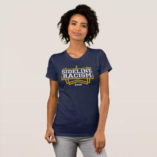 上昇のサイドラインの人種的優越感のTシャツの女性の海軍か黄色 Tシャツ