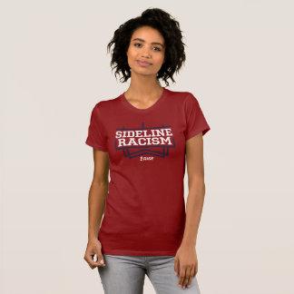 上昇のサイドラインの人種的優越感のTシャツの女性の赤か海軍 Tシャツ
