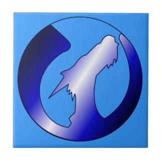 上昇のドラゴンのロゴ タイル