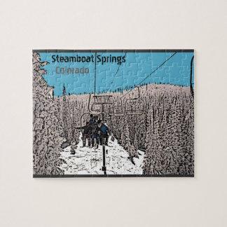 上昇のパズルのSteamboat Springsコロラド州日 ジグソーパズル