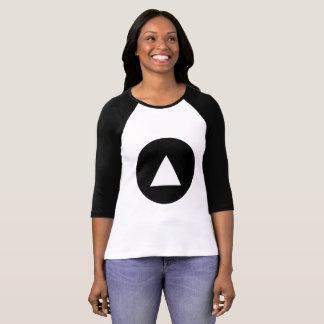 上昇の女性の3/4枚の袖のRaglanのTシャツ Tシャツ