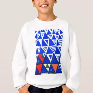 上昇の青い三角形(幾何学的な表現主義) スウェットシャツ