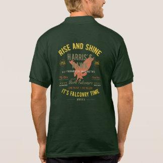 上昇はそれをです鷹狩の時間照らし、! ハリスのタカ ポロシャツ