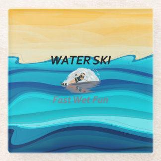 上水スキー ガラスコースター