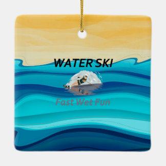 上水スキー セラミックオーナメント