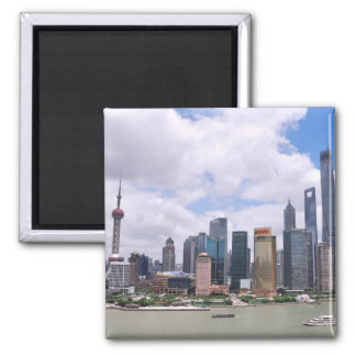上海の中国のスカイライン マグネット