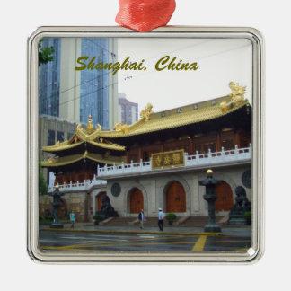 上海の中国のヒスイの寺院 メタルオーナメント