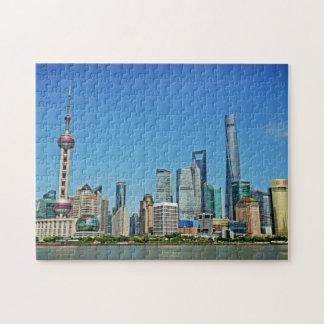 上海の中国-ブンドからの眺め ジグソーパズル