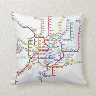 上海の地下鉄の地図 クッション