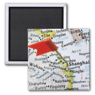 上海の地図の中国に置かれるピンの地図を描いて下さい マグネット