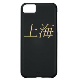 上海の金の中国語-黒の… iPhone5Cケース