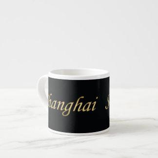 上海の金の英語-黒の… エスプレッソカップ