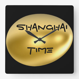 上海アジア都市柱時計! スクエア壁時計