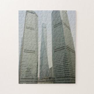 上海タワー- Lujiazui、浦東新区-上海の中国 ジグソーパズル