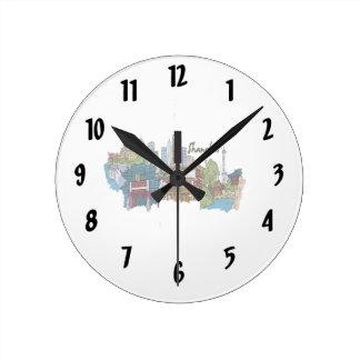 上海都市黙した色design.png ラウンド壁時計