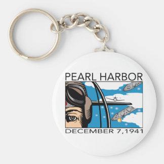 上空飛行の真珠湾 キーホルダー