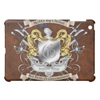 上等の騎士頂上ブラウンによる貴族 iPad MINI カバー