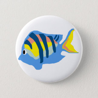 上級曹長魚ボタン 5.7CM 丸型バッジ