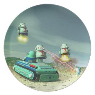 上記のプレートからのロボット侵入 プレート