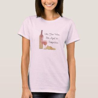 上質ワインのように老化させる Tシャツ