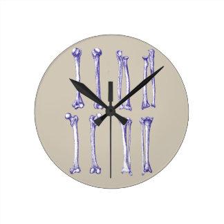 上部および下の肢の骨 ラウンド壁時計