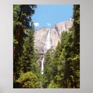 上部および下のYosemite Falls ポスター