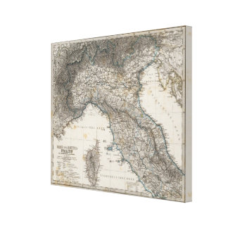 上部および中央イタリア キャンバスプリント