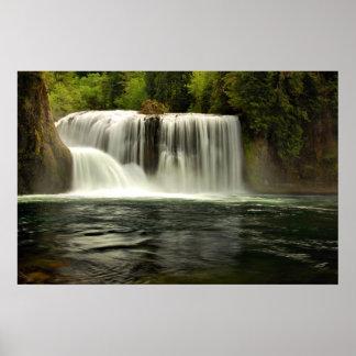 上部のルイスの川の滝 ポスター