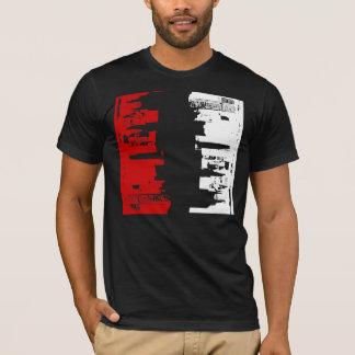 上部の都心の抽象的概念のまわり Tシャツ