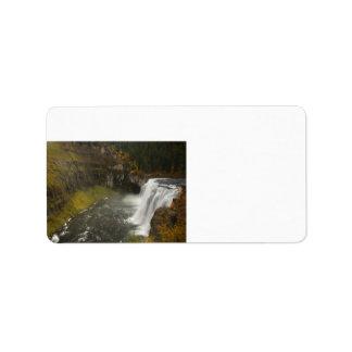 上部メサの滝 ラベル